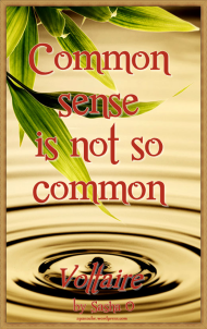 Common Sense Voltaire Quote