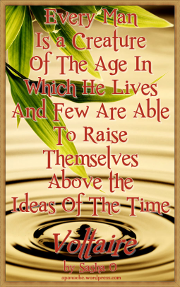 Creature of the Age a Voltaire Quote