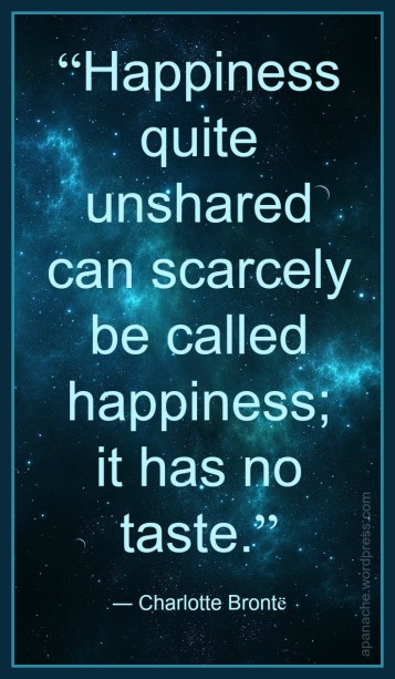 Quote: Charlotte Bronte, Happiness