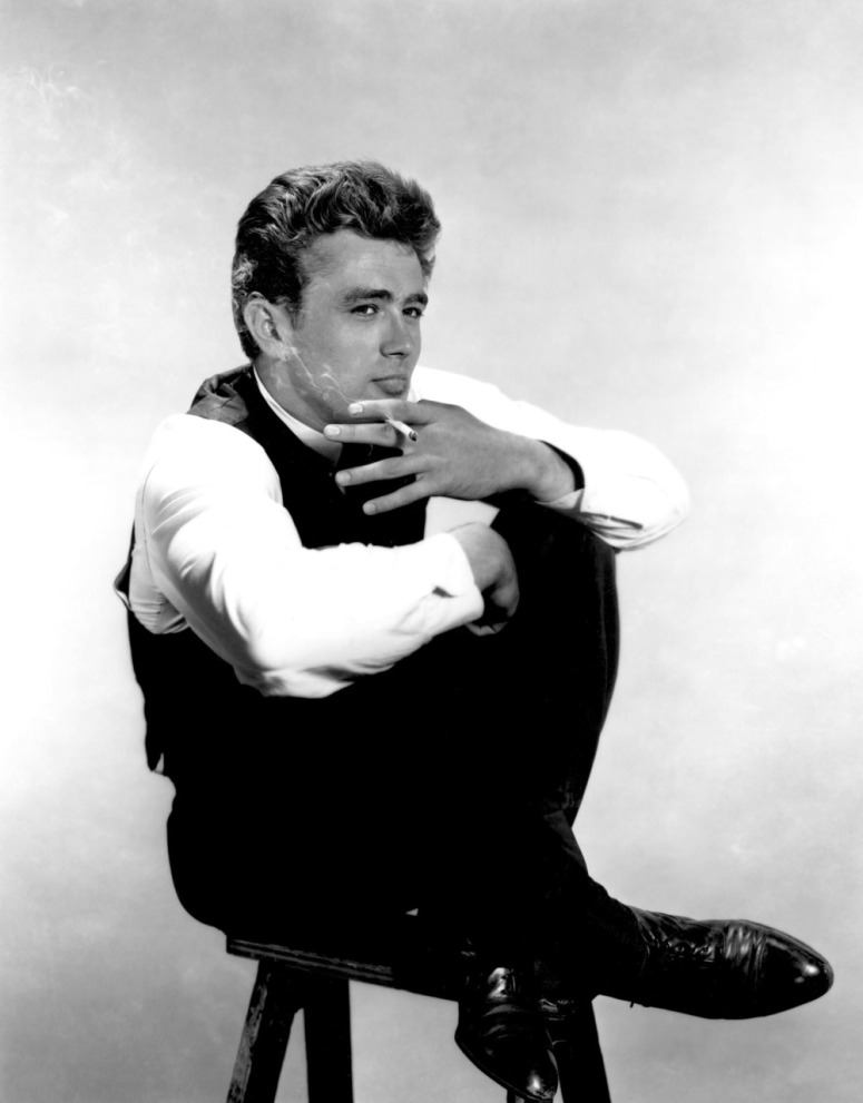 james dean, a studio shot