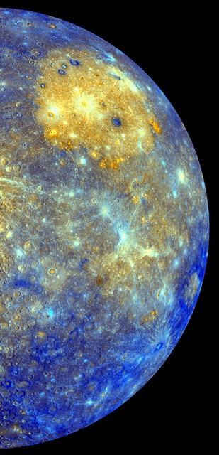 Colour mosaic of Mercury, from NASA