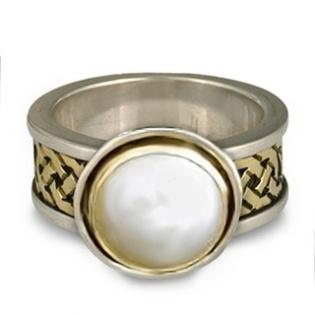 Celtic Knot work on Moonstone Ring