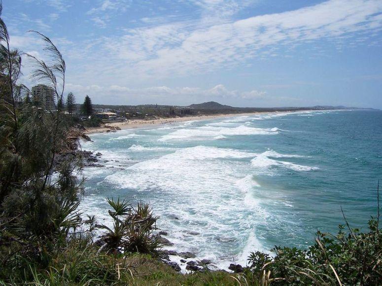 Coolum Beach, Sunshine  Coast looking Northward
