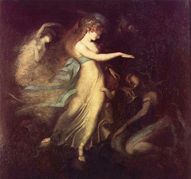 """Prince Arthur and the Fairy Queen"". by Johann Heinrich Füssli; scene from The Faerie Queene"
