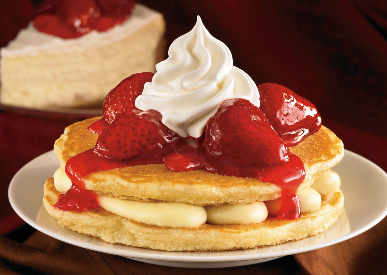 Pancakes strawberry stackers
