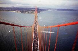 Golden Gate Bridge with Walkers