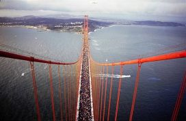 Golden Gate Bridge with Walkers