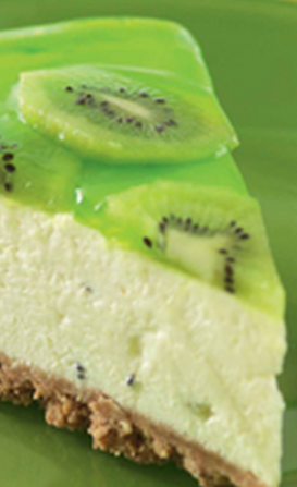 Kiwi fruit cheesecake
