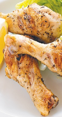 Lemon and garlic chicken drumsticks