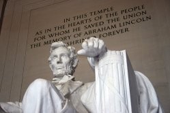 Lincoln Memorial in this temple -