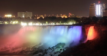 Night at Niagara Falls from Marriott Hotel