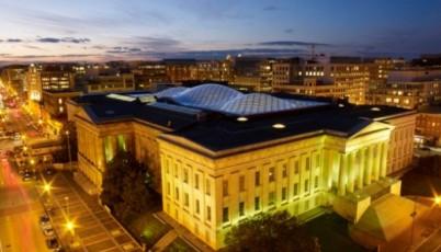 Smithsonian Institute_exterior_nighshot