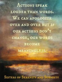 Actions and Words Quote