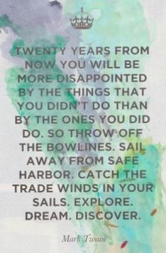 Discover and a Mark Twain Quote