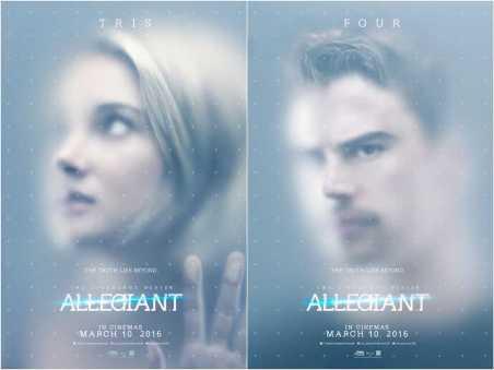 allegiant poster four and tris