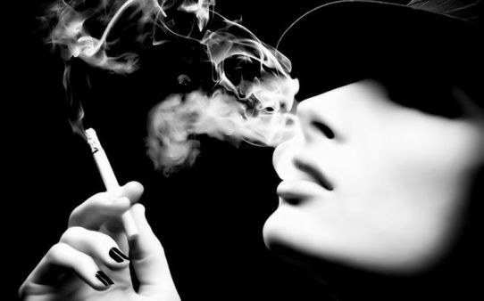 smoking bw