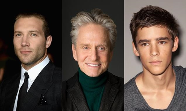 Jai Courtney, Michael Douglas & Brenton Thwaites