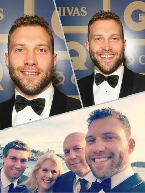 Jai Courtney with parents Karen and Chris