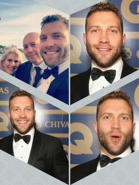 Jai Courtney and Parents at the GQ Awards