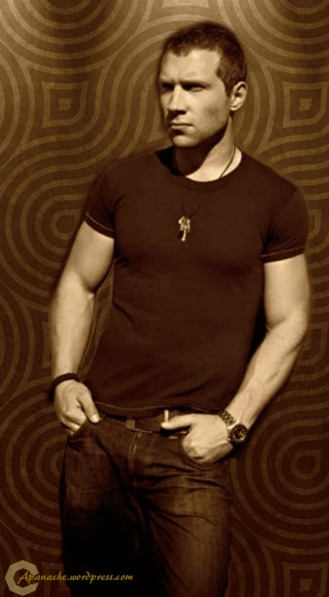 Jai Courtney iphone wallpaper sepia dark with logo