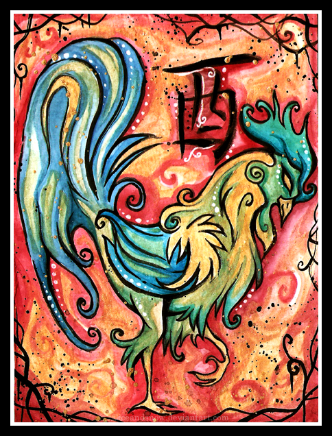 Chinese Zodiac, Rooster by Ice and Snow at Deviantart