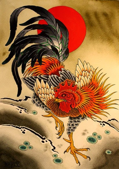 japanese rooster, year of the rooster
